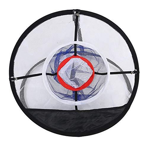 MAGT Golf Chipping Netz, Faltbares Golfübungsnetz Golf-Trainingsset Für Das Schlagen Von Netzkäfigbällen Auffangbehälter Tasche Für Den Innenbereich Trainingshilfe Perfect Touch-Übungsnetz