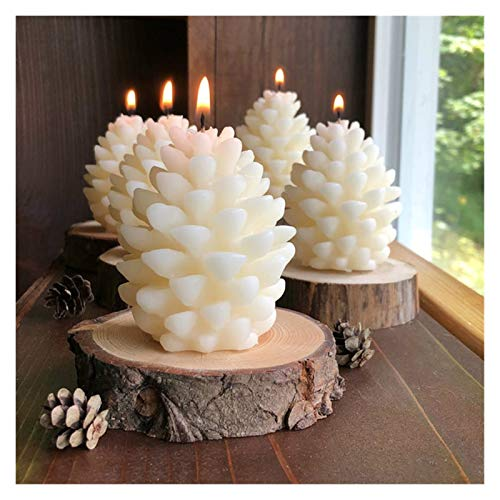 ShawnBlue Candle Mould 2 Pcs 3D Pine Cone Silicone Candle Mold DIY Handmade Aromatherapy Candles Beeswax Candle Making Mould