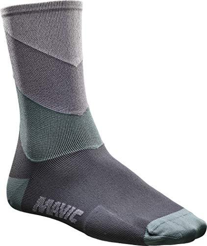 MAVIC Graphic Stripes Socken Glacier Gray Schuhgröße M   EU 39-42 2020 Fahrradsocken