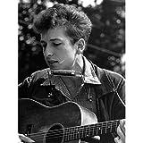 Poster, Folk-Sänger, Bob Dylan, Harmonika, Gitarre, Musik,