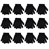 Gelante Adult Winter Knitted Magic Gloves Wholesale Lot 12 Pairs 9905-Black-12 Pairs