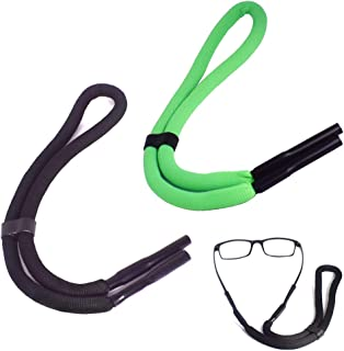 2 Packs Floating Glasses Straps Eyeglasses Holder Straps for Swimming Water Sports Foam Glasses Retainers Adjustable