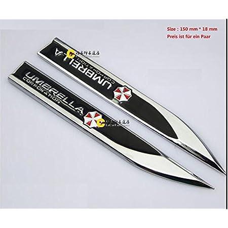 E474 Ein Paar Umbrella Emblem Zeichen Badge Auto Abziehbild Aufkleber 3d Seite Car Sticker Auto