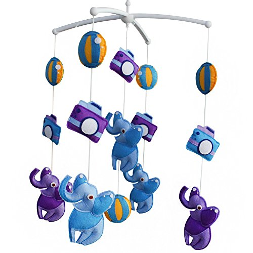 Décoration de pépinière de cadeau de jouet mobile de lit de bébé fait main pour 0-2 ans, MQ34