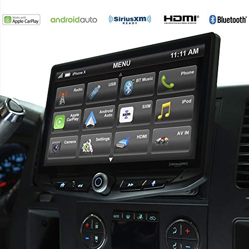 STINGER - Stereo Replacement 10-Inch Touchscreen Radio with Android Auto, Apple CarPlay, Bluetooth, GPS, Dual USB Includes Dash Kit Interface for Chevy Silverado and GMC Sierra (2007-2012)
