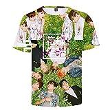 BTS Impresión en 3D Hombre Mujer Camisetas Camisetas de Manga Corta O Cuello tee Tops 3 De XXS