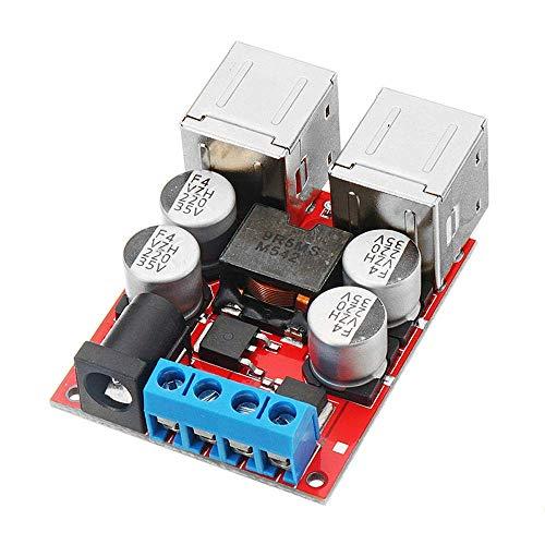 ZTSHBK DC8V-35V a 5V 8A Módulo de reducción de Potencia de 4 Puertos USB Cargador de Coche para teléfono móvil Soporte de Carga rápida 3 Piezas