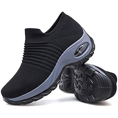 Zapatos de senderismo súper suaves para mujer, suela suave, cómoda, zapatillas de deporte