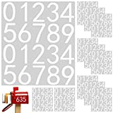 durony 12 Sheets 3 Inches White Mailbox Number Stickers Hollow Self-Adhesive Vinyl Numbers 0-9 Street House Address Numbers Stickers for Mailbox, Signs, Cars, Apartment