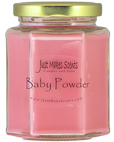 Just Makes Scents Baby Powder Scented Blended Soy Candle   Hand Poured in The USA