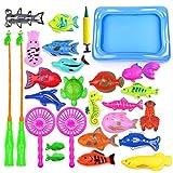 Amasawa 28 Piezas Juego de Pesca Magnética,Juguete de Pesca,Baño...