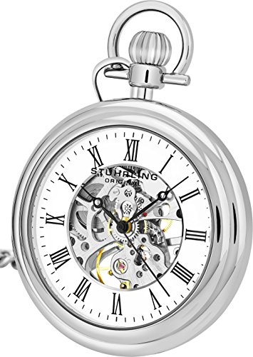 Stuhrling Original Men's 6053.33113 Special Reserve Vintage Pocket Watch