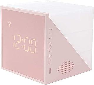 Reloj despertador digital, LED Cube Pantalla electrónica Música Reloj para niños, Temporizador colorido Cuenta regresiva C...