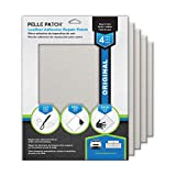Pelle Patch - 4X Leather & Vinyl Adhesive Repair Patch - 25 Colors Available - Original 8x11 - Grey