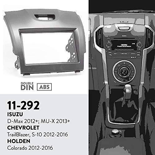 UGAR 11-292 Trim Fascia Car Radio Installation Mounting Kit for Isuzu D-Max 2012+; MU-X 2013+ / Chevrolet Trailblazer, S-10 2012-2016 / Holden Colorado 2012-2016