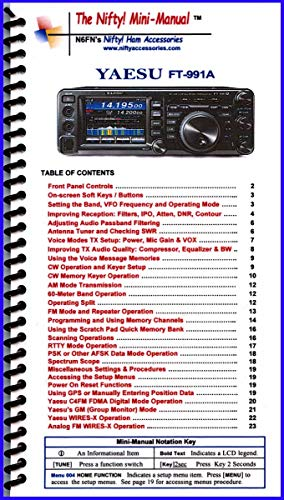 Yaesu FT-991A Mini-Manual by Nifty Accessories