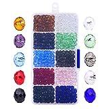 800 Piezas 6mm Cristal Tallado Perlas De Cristal Rondelles Con Caja y paño limpio