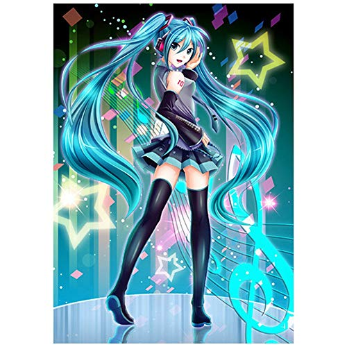 Zhenzhiao Anime Hatsune Miku Poster Wanddekoration Wandbild Kleinformat Plakat für Wandgestaltung(H11)