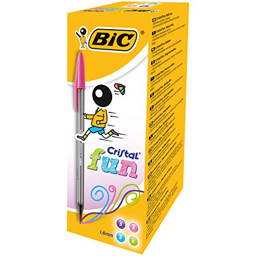 Bic Cristal Fun Punta Larga 1,6 mm Confezione 20 Penne Colori Assortiti