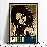VGSD® Poster Lauryn Hill Musik Sänger Poster Hip Hop Rap