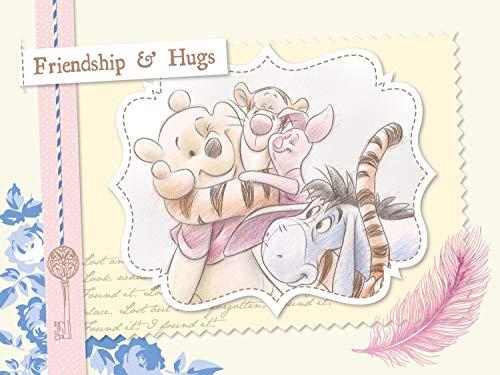 AG Design Winnie The Pooh Vintage, Disney, Vlies Fototapete für EIN Kinderzimmer, 360 x 270 cm, FTDN XXL 5078, Mehrfarbig
