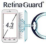 RetinaGuard フリーサイズ ブルーライト90%カット強化ガラスフィルム (4.3インチ)