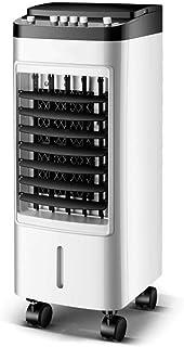 Qi Kang Evaporativo Portátil, Refrigeración 3 en 1 Portatil Climatizador 1-12h Temporizadores Aire Acondicionado Ventilador de Pie (4L) con 3 Velocidades-002 Estilo mecánico