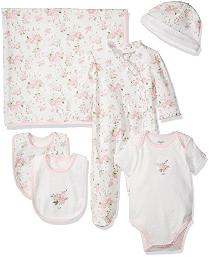 Little Me Baby Girls' Newborn Essentials Gift Set, Pink Floral, New Born