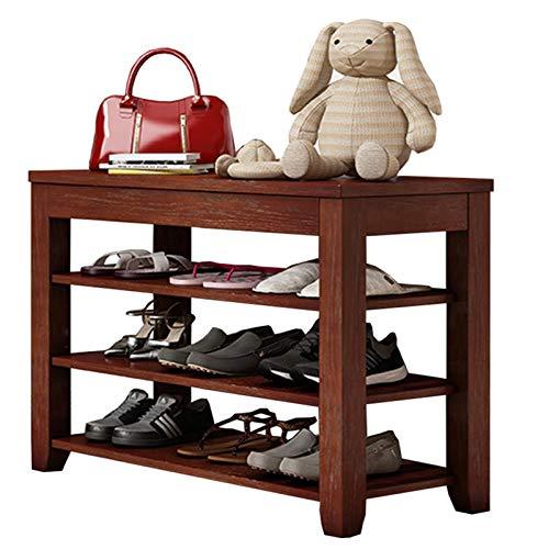 WHOJA Banco Zapatero Moderno Banco de Zapatos de casa Estante de 3 estantes Taquilla de Zapatos Asiento del Pasillo Apto for Dormitorio Sala de baño Teniendo Peso 150 kg Estantería