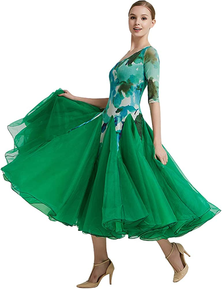 Ladies Strapless Floral Ballroom Dress Dance Directly managed Mail order cheap store Competition