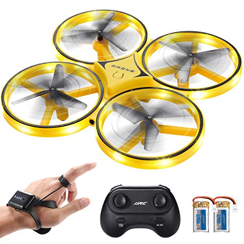 SGILE Drone RC avec LED, Quadricoptère Télécommandé avec 360° Flips, Montre Capteur de...
