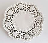 gastro - 500Centrini decorativi per torta, rotondi, bianco, di carta, diametro: 10 cm
