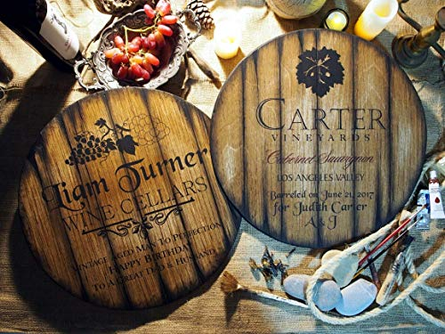 Personalized Wine Barrel Sign, Hand-Painted on Old Wood, Rustic Wall Art Plaque