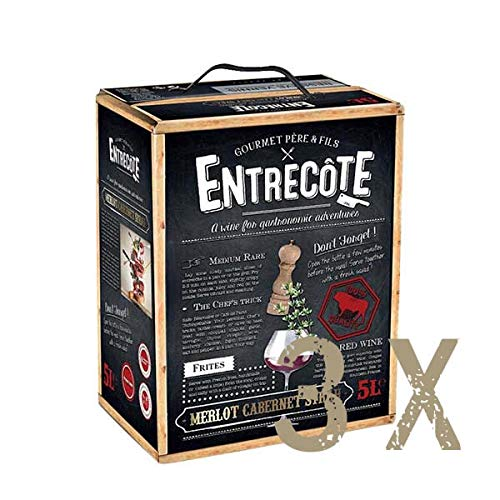 Rotwein Frankreich Cuvée Entrecôte Bag in Box trocken (3x5L)