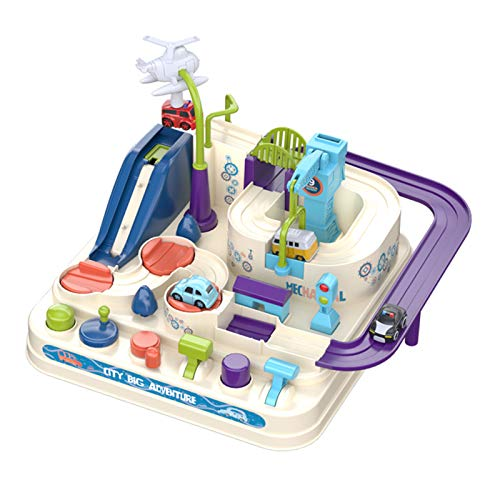 Juguetes de pista de coche, juguetes de aventura para niños, rompecabezas herramienta de transporte preescolar, juguete educativo para niños y niñas inteligencia educativa
