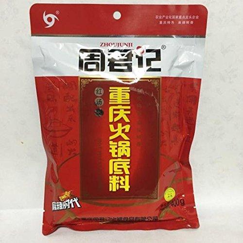 周君記重慶火鍋底料(紅湯型) 鍋の素 辣湯火鍋調料 400g