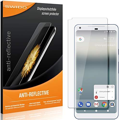 SWIDO Schutzfolie für Google Pixel 2 XL [2 Stück] Anti-Reflex MATT Entspiegelnd, Hoher Festigkeitgrad, Schutz vor Kratzer/Folie, Bildschirmschutz, Bildschirmschutzfolie, Panzerglas-Folie