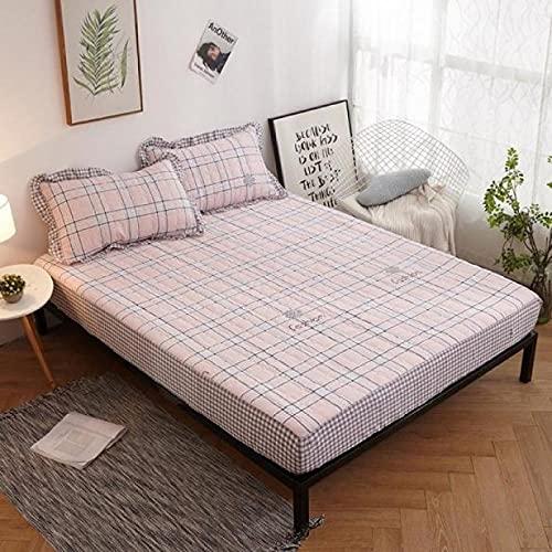 XGguo colchón Acolchado, antialérgico antiácaros, Funda Antipolvo de una Sola Pieza para sábana de algodón-36_200 * 220CM