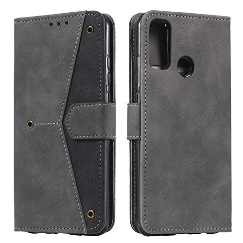 HOUSIM Hülle für Xiaomi Redmi 9C Handyhülle mit Kartenfach Klappbar Schutzhülle Leder Tasche Flip Hülle für Xiaomi Redmi 9C - HOHHA180377 Grau
