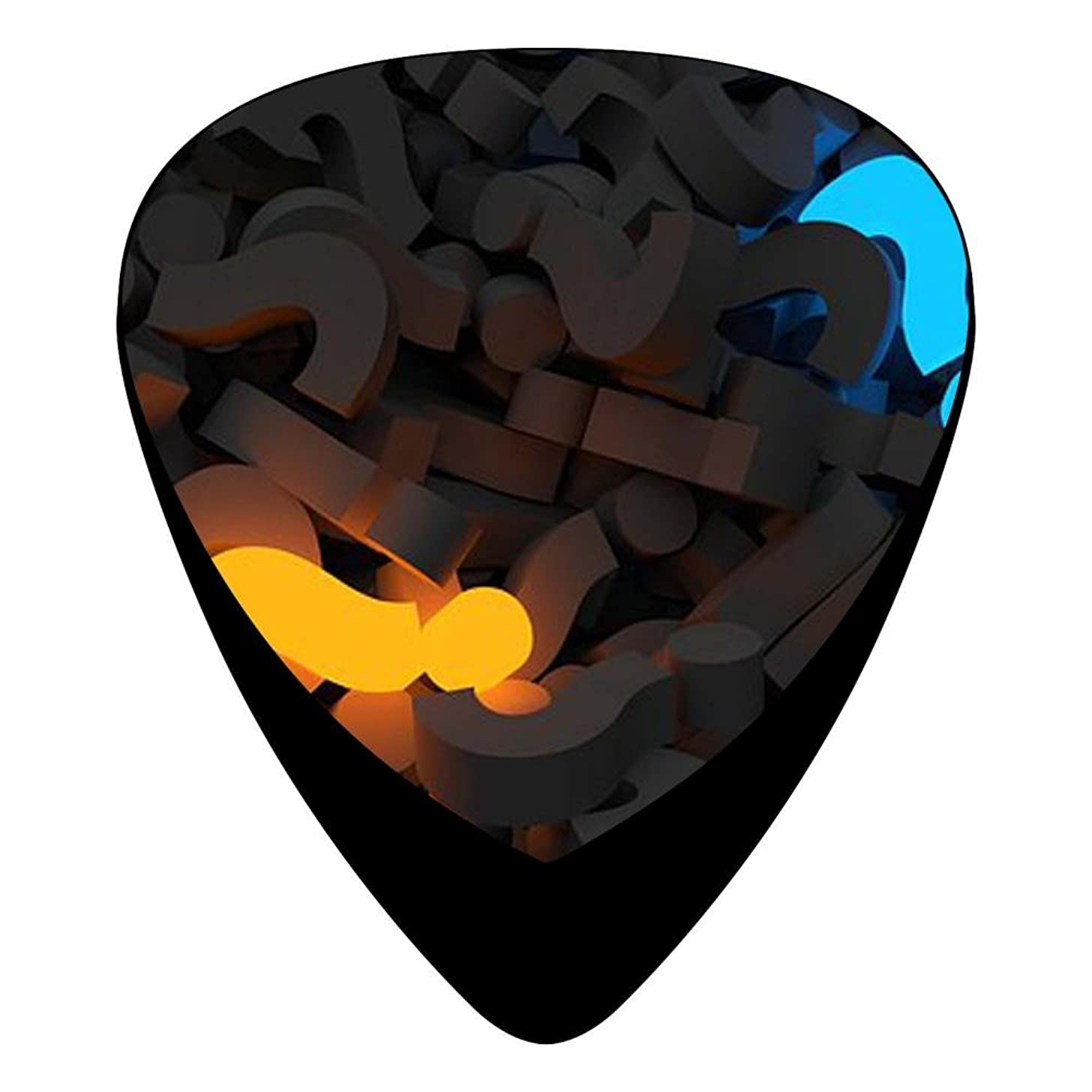 Guitar Picks Celluloid Amazing Question Mark 12 Pack Shape For Acoustic Guitar Mandolin Electric Guitar And Bass