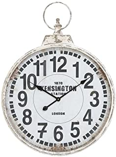 "Deco 79 52118 Metal Wall Clock, 32""x24"""