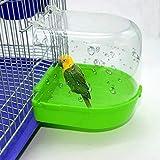 PIONIN Vogelbad Vogelkäfig-Zubehör Haustier-Badezubehör Vogelbadewanne für Finken