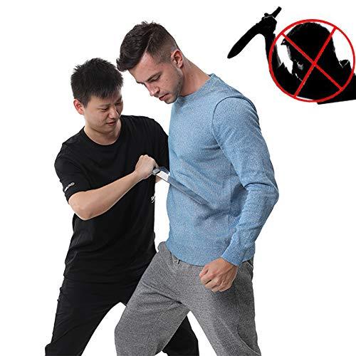 TBDLG Stichfeste Weste, Security Anti Messer Weiche unsichtbare Weste, mit Schutz für Körper Männer Frauen Polizei,M