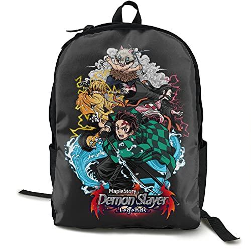 Demon Slayer - Mochila impermeable para libros unisex ligera, mochila casual de gran capacidad, multifuncional, mochila vintage