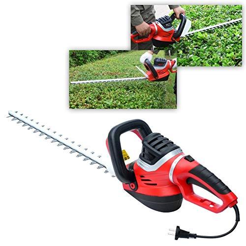 K99 600W Cortasetos eléctrico, Condensador de Ajuste del árbol del té, de múltiples Funciones Portable de la máquina de Corte, Jardín Hedge Herramienta (Negro y Rojo)