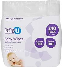 BabyU Baby Fragrance Free Wipes 240pk
