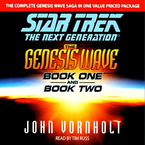 Star Trek, The Next Generation: The Genesis Wave, Book 2 (Adapted) audiobook cover art