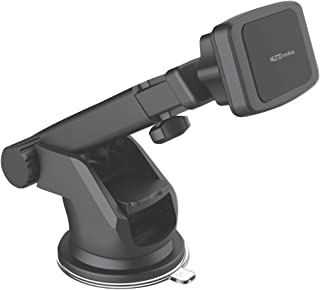 Portronics MoGun POR-1035 Universal Mobile Holder, Magnetic, 360 Degree Rotation, Car Dashboard or Windscreen, Any Smartph...