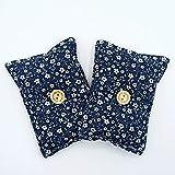 Mini almohada Duerme Bien'Flores - azul' (Pack 2) de semillas lavanda - Colócala debajo de tu almohada o cojín para dormir bien, calmar los nervios y relajarte 13x10cm