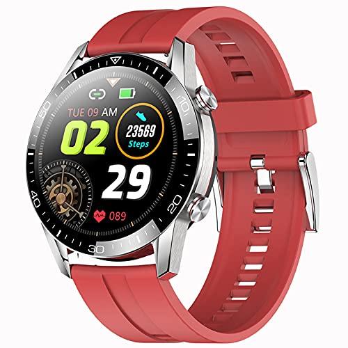 Rvlaugoaa Smartwatch Llamada Bluetooth Pulsera Deportiva Inteligente Rastreador De Ejercicios Recordatorio De Mensajes Música IP68 Reloj Inteligente A Prueba De Agua para Teléfonos iPhone/Android